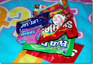 candy pile